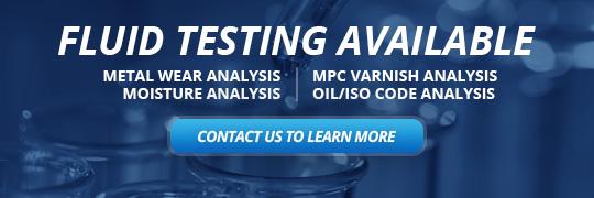 Fluid Testing Available