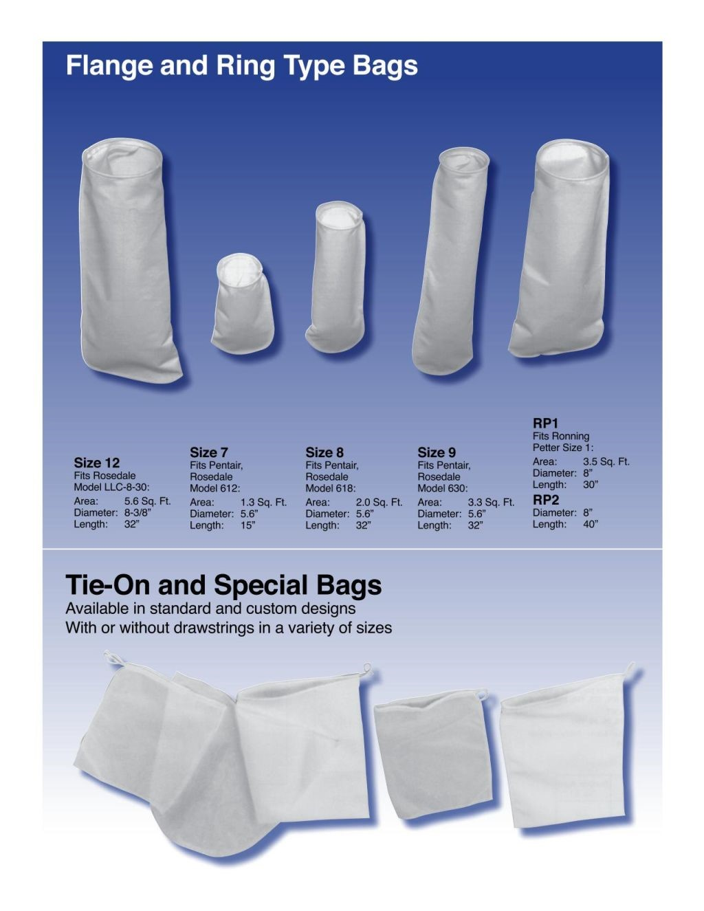 Filter Technology Flange and Ring Type Bags 2
