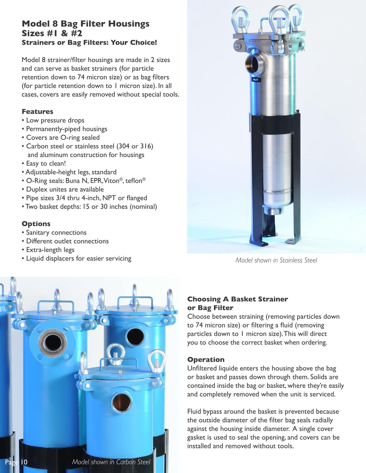 Filter Technology Model 8 sizes 1 and 2