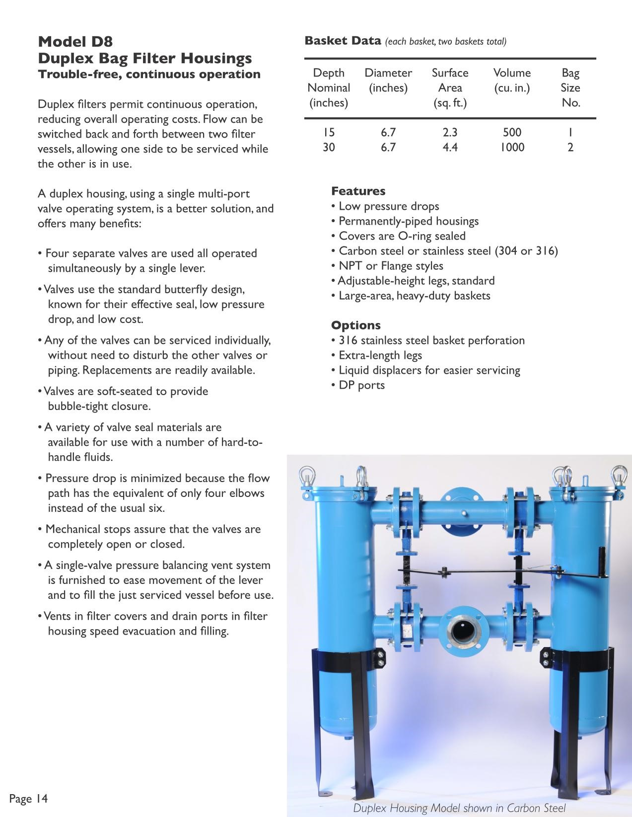 Filter Technology Model D8 Info