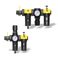 Combinations of Filters, Regulators, Lubricators and Valves