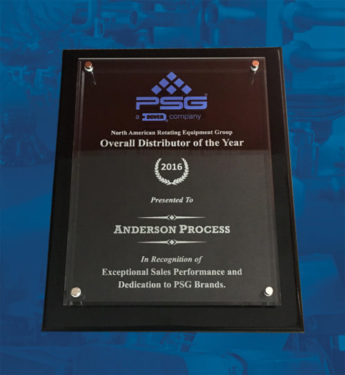 Anderson Process Wins 2016 PSG Distributor of the Year Award! - Anderson Process